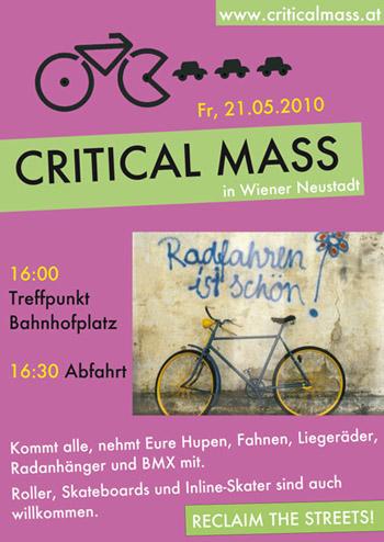Freitag, 21. Mai - Critical Mass in Wiener Neustadt