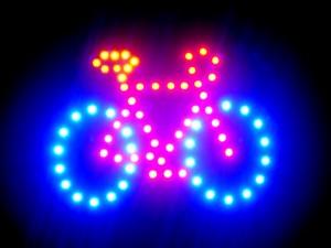 LED-Fahrrad